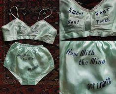 1940s souvenir lingerie set via Etsy