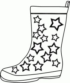 Winter Boots Large Coloring Page Dressing for Winter Pinterest