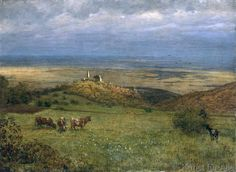 Hans Thoma - Blick auf Kronberg im Taunus, Germany, 1879