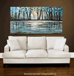 painting 60 wall art abstract landscape Painting por jolinaanthony