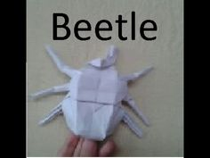 How to make an origami hercules beetle (Jo Nakashi - YouTube