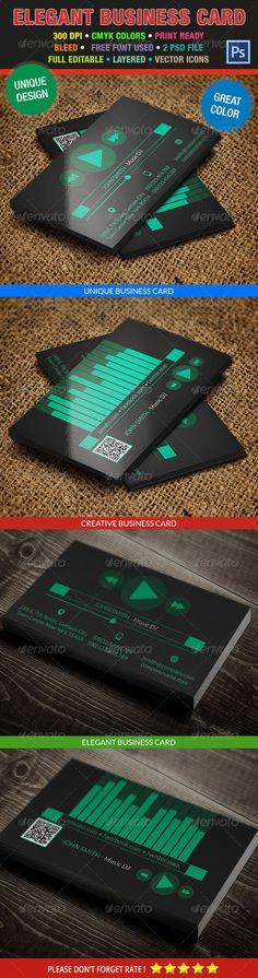 Music DJ Creative Business Card 198