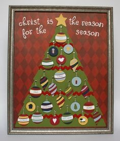 CHIRSTmas Advent Tree Calendar ePattern