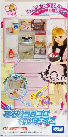 Takara Tomy Licca Doll Refrigerator Set <doll not included> (451624) ~from eBay seller tokyo-hobby