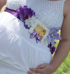 Maternity Sash! Beautiful For A Baby Shower Or Maternity Pictures!!  Www.facebook