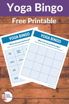 Yoga bingo is a fun way to engage your kids in yoga in a unique way. Allow each child to choose their yoga adventure. Fun for the whole family. Kids Yoga Poses, Yoga For Kids, Bingo For Kids, Yoga Teacher Training India, Yoga Games, Yoga Lessons, Free Yoga, How To Do Yoga, Practice Yoga