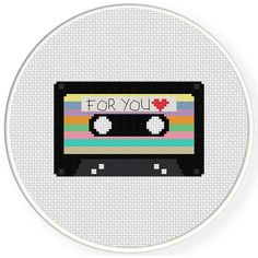 Charts Club Members Only: Mixtape Cross Stitch Pattern