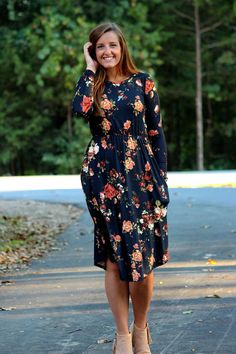 ad2c5b9eedd9 The perfect black floral print dress is here! This dress is so comfortable  you will