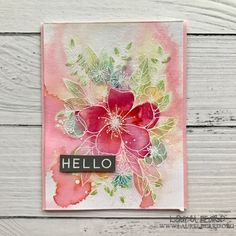 Hello Watercolored Florals – Simply Cardmaking with Laurel Beard Altenew Cards, Stampin Up Cards, Card Making Inspiration, Making Ideas, Cute Cards, Diy Cards, Concord And 9th, Beautiful Handmade Cards, Marianne Design
