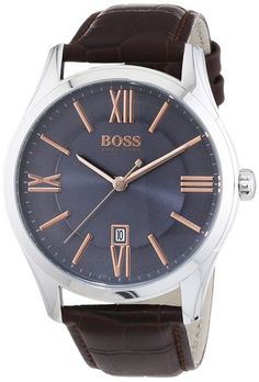 Luxury and Sports watches For Mens Picture DescriptionHugo Boss Ambassador Men's Quartz Grey Analogue Classic Brown Leather Strap 1513041 Sport Watches, Cool Watches, Watches For Men, Hugo Boss Watches, Brown Leather Strap Watch, Brown Band, Hugo Boss Man, Seiko Watches, Fashion Watches