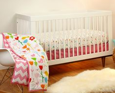 Project Nursery - Pinwheel Sweet Tweet 3-Piece Crib Bedding Set