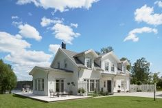 B:018 Scandinavian Architecture, Architecture Design, Cute House, My House, New England Hus, Big Houses, Dream Houses, House Floor Plans, Country Style