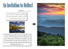 An Invitation to Reflect