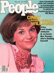 Vintage People Magazine Cindy Williams Laverne & Shirley May 30 1977  Date Published: May 30, 1977 Cover Feature Photo: Cindy Williams  COVER STORY Not Laverne's Foil Cindy Williams Casts Off the Things of This World; Squiggy, the Fonz, Duddy; to Be Her Own Woman.