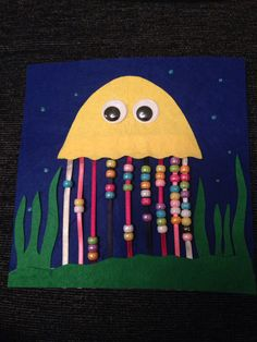 Octopus bead counting - quiet book! Page one done, #proud