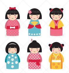 geisha stylisée - Recherche Google