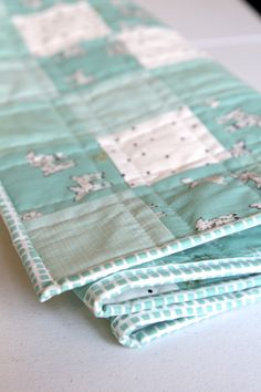Little Lamb Checkerboard Quilt | Beech Tree Lane Handmade