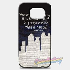 John Green Paper Towns Quotes Cover Samsung Galaxy S8 Plus Case Case | casefantasy
