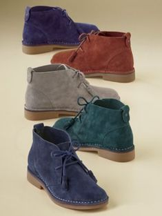 Cyra Catelyn Desert Boot by Hush Puppies from Monroe and Main. Adventurous  style in colorful, genuine suede adds a kick of energy to your day.