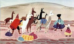 Mary Blair Illustrator - I could love anything that's watercolor! South American Watercolors