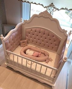 50 Inspiring Nursery Ideas for Your Baby Girl - Cute Designs You'll Love Get inspired to prepare and create the perfect room for your baby girl. These baby girl nursery ideas can help you create a cute girly room style. Baby Bedroom, Baby Room Decor, Girls Bedroom, Baby Girl Bedroom Ideas, Trendy Bedroom, Baby Furniture, Furniture Decor, Bedroom Furniture, Furniture Sets