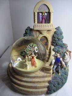 Disney Snow White Evil Queen Wishing Well Musical Snow Globe RARE | eBay