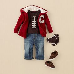 Cute outfit t bring baby home in...minus the pants instead sweats...if its a boy