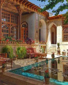 Dream Home Design, My Dream Home, House Design, Garden Design, Persian Architecture, Beautiful Architecture, Future House, Future City, Beautiful Homes