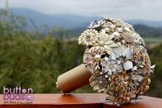 Brooch bouquet by Nic's Button Buds  at the Riverstone Estate Winery in the Yarra Valley Victoria