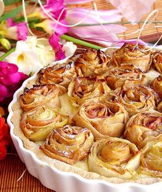 Apple Pie Roses | Rose Dessert Ideas