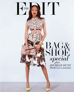 FAB Fashion: Jourdan Dunn Recalls a White Makeup Artist Who Wouldn't Touch Her Black Skin in Net-A-Porter's The Edit Magazine New Fashion, Fashion News, Spring Fashion, Fashion Outfits, Luxury Fashion, Executive Fashion, Jourdan Dunn, Beauty Trends, Celebrity Style
