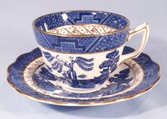 Booths Real Old Willow Vintage Silicon China Tea Cup and Saucer ...
