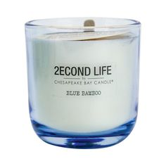Glass Jar Candle Large Blue Bamboo - 2econd Life by Chesapeake Bay Candle, Lite Blue