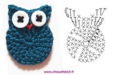 grafico Corujinha de croche - Klask gant Google