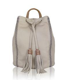Beige Lattice Backpack < BACKPACKS | AESTHET.COM
