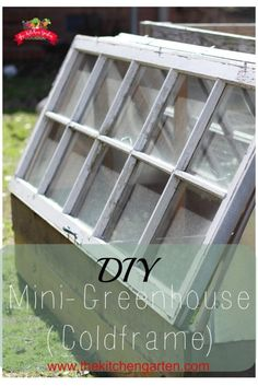 A DIY mini greenhouse to use year-round in your garden. Great to starting seedlings outdoors or extending your growing season into the fall!