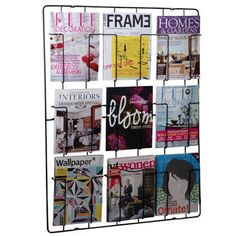 Buy Magazine Rack - Matt Black from our Wall Organisers range at Red Candy, home of quirky decor. Porte Magazine Mural, Magazine Wall, Magazine Stand, Bff, Magazine Display, Boutique Deco, Quirky Decor, La Pile, Little Designs