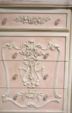May 2020 - Painted Cottage Chic Shabby Romantic French Dresser / Chest Shabby Chic Bedrooms, Shabby Chic Homes, Shabby Chic Furniture, Painted Furniture, Furniture Ideas, French Furniture, Bedroom Furniture, Furniture Makeover, Rustic Furniture