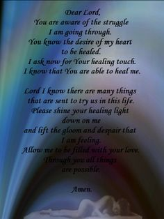prayers to god for healing   With God All things are possible: A Prayer for Healing