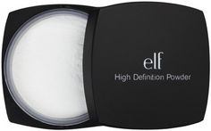 E.L.F. HD Powder - HG for those of us with oily but mature skin. Gotta love a $6 product that absorbs oil while blurring away fine lines. If only they made a pressed version for on the go ...