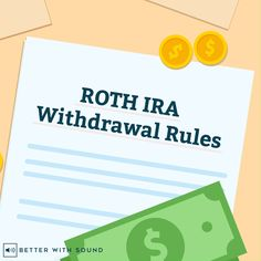 The Roth IRA withdrawal rules can be complicated, especially if you need to use the money earlier than you expect. Investing Apps, Investing In Stocks, Real Estate Investing, Roth Ira Withdrawal, Money Icon, Roth Ira Conversion, Retirement Gifts For Men, Individual Retirement Account