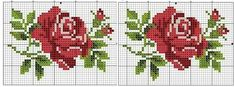 Rose cross stitch (This Pin was discovered by Peo) Kawaii Cross Stitch, Mini Cross Stitch, Cross Stitch Rose, Cross Stitch Borders, Cross Stitch Flowers, Cross Stitch Charts, Cross Stitch Designs, Cross Stitching, Cross Stitch Embroidery
