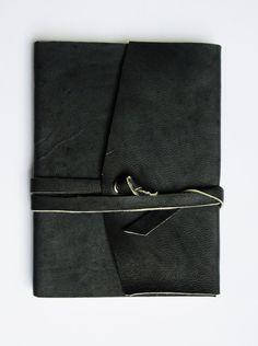Leather Journal Blank Gray Handmade Cover