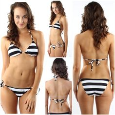 Water, Sand and Stripes! Read between the lines in this navy and white striped bikini now available online at www.sophieandtrey.com & in-store at #4thandocean Top ($14.99) bottoms ($14.99) #bathsuit #bikini #halter #beach #waves #sand #stripes #readbetweenthelines #love #need #sb2k14