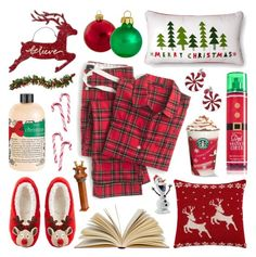 """""""The Night Before Christmas"""" by lgb321 ❤ liked on Polyvore featuring ASOS, Kurt Adler, Ball, philosophy, Hershey's, J.Crew, Department 56 and Natures Jewelry"""