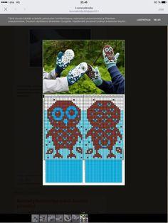 Pöllölapaset #strikkeoppskriftvotter Pöllölapaset Drops Design, Dna, Mittens, Mascara, Knitting, Knits, Google, Etsy, Threading