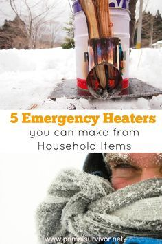 5 Emergency Heaters You Can Make with Everyday Household Items for when the grid goes down.