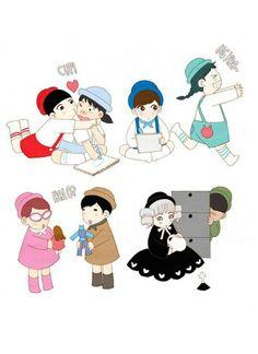Spirit Fingers Webtoon, Girl Hair Drawing, Webtoon App, Webtoon Comics, Manhwa Manga, Pictures To Draw, Anime Comics, Cartoon Wallpaper, Character Illustration