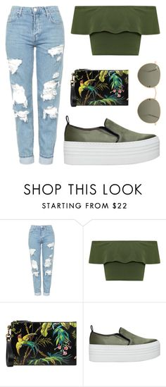 """""""Untitled #1507"""" by fashionwwonderland ❤ liked on Polyvore featuring Topshop, WearAll, Gucci, KG Kurt Geiger and Ray-Ban"""