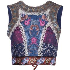 Etro floral pattern cropped top ($2,300) ❤ liked on Polyvore featuring tops, crop top, shirts, multicolour, floral crop top, floral shirt, silk top, silk crop top and floral-print shirts